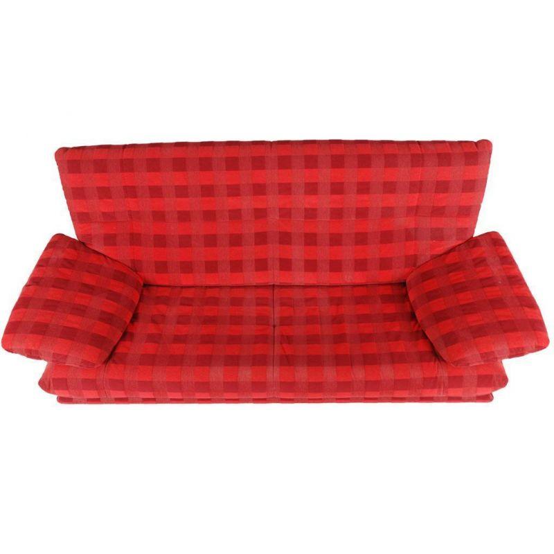 design 2er couch rot kariert. Black Bedroom Furniture Sets. Home Design Ideas