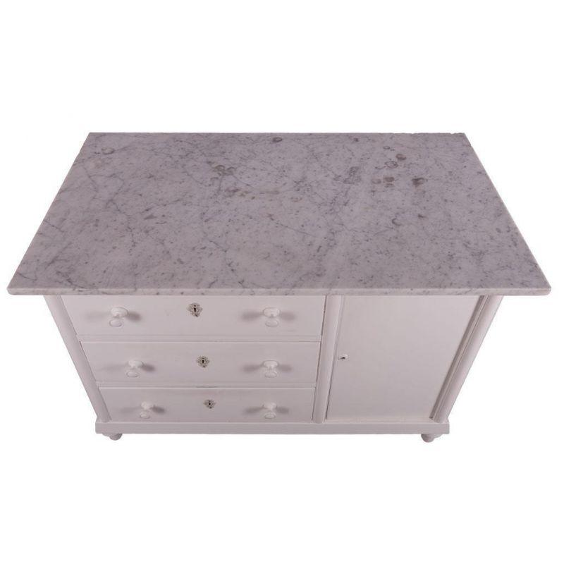 kommode waschkommode holz wei marmor. Black Bedroom Furniture Sets. Home Design Ideas