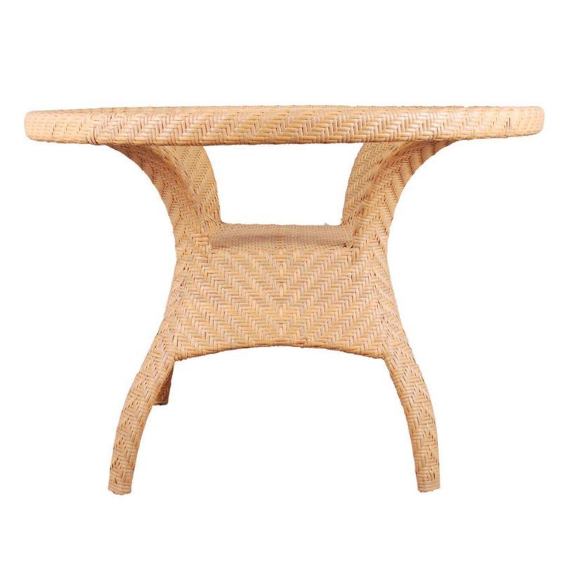 gartentisch mit kunststoffgeflecht f r den wintergarten terras. Black Bedroom Furniture Sets. Home Design Ideas