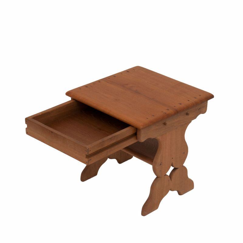 beistelltisch mit schublade eiche natur wohnzimmertisch vintage re. Black Bedroom Furniture Sets. Home Design Ideas