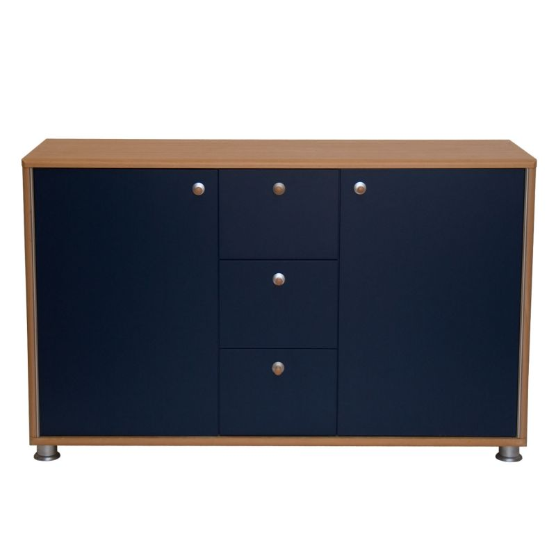 Modernes sideboard buche dunkelblau - Anrichte modern ...
