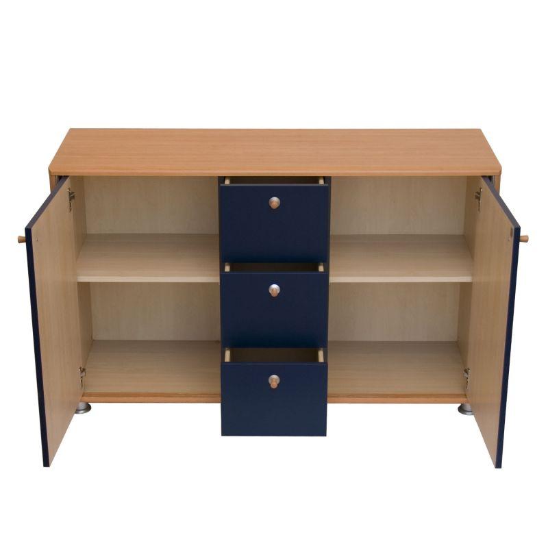 Modernes sideboard buche dunkelblau for Kleine kommode buche
