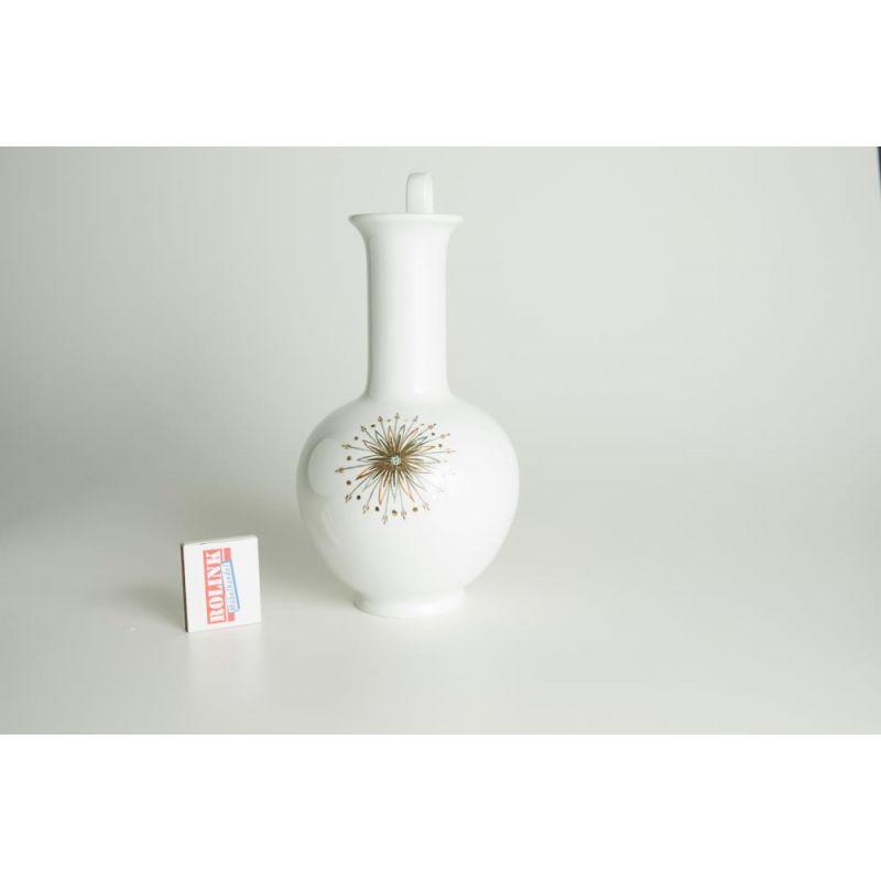 vase weiss keramik vase in wei handbemahlt aus den er er jahre von artur michels with vase. Black Bedroom Furniture Sets. Home Design Ideas