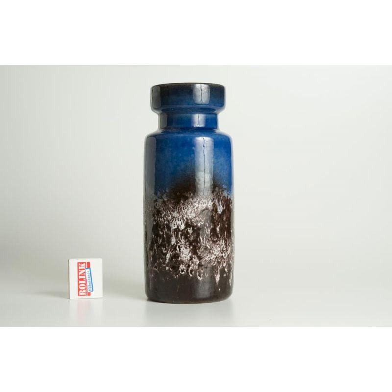 Scheurich keramik vase fat lava blau aus den 50er 60er for Mobel 50er 60er 70er