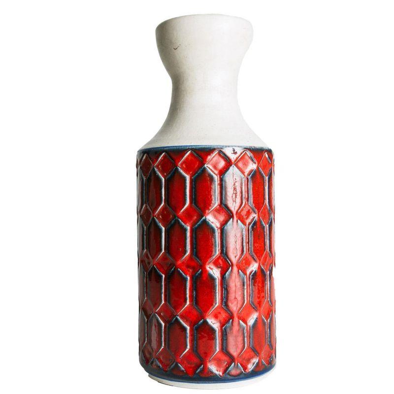seltene jasba keramik vase aus den 70er jahre 35 cm hoch in wei szl. Black Bedroom Furniture Sets. Home Design Ideas