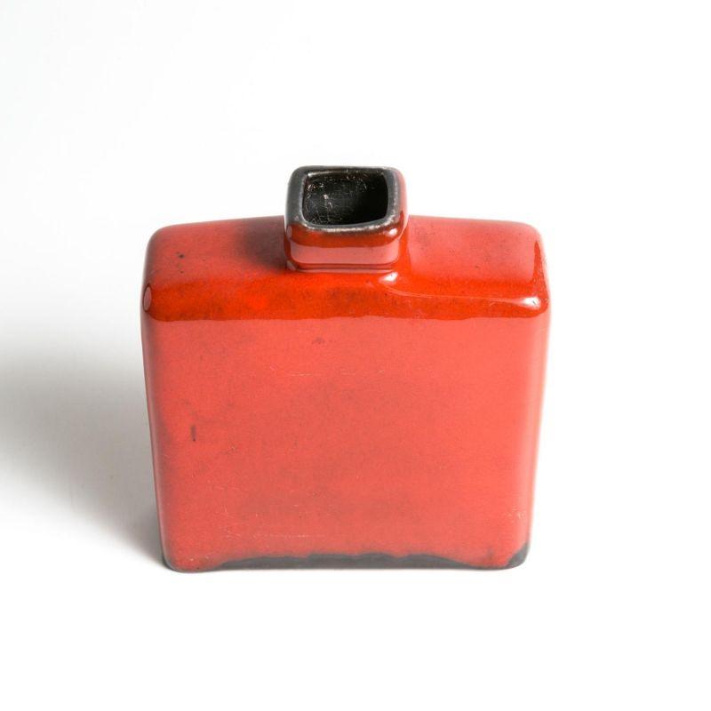 keramik tischvase vintage retro aus den 60er 70er jahren in rot. Black Bedroom Furniture Sets. Home Design Ideas