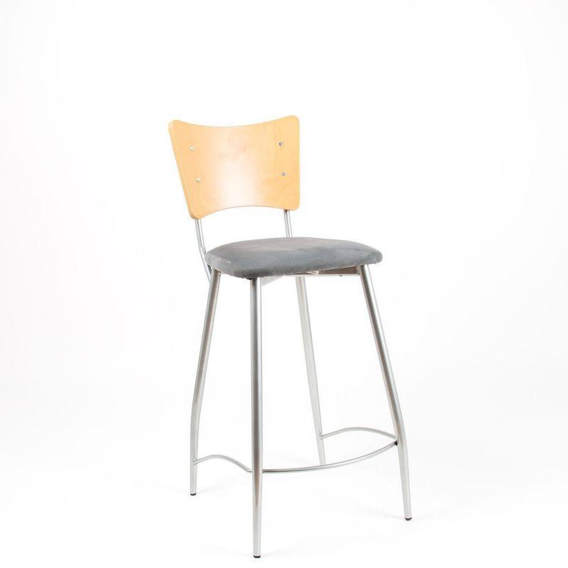 halbhoher barhocker tresenhocker f r die k che sitz in grau. Black Bedroom Furniture Sets. Home Design Ideas