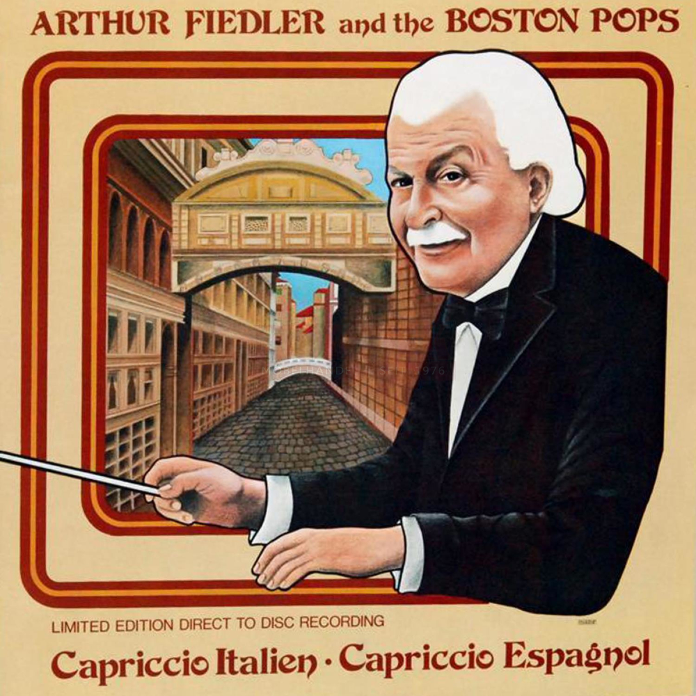 Schallplatte Capriccio Italien - Capriccio Espagnol Arthur Fiedler and the Boston Pops LP 1978